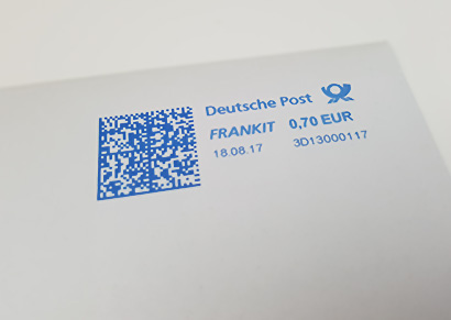 Brief Porto Standardbrief der Deutschen Post mit 70 Cent